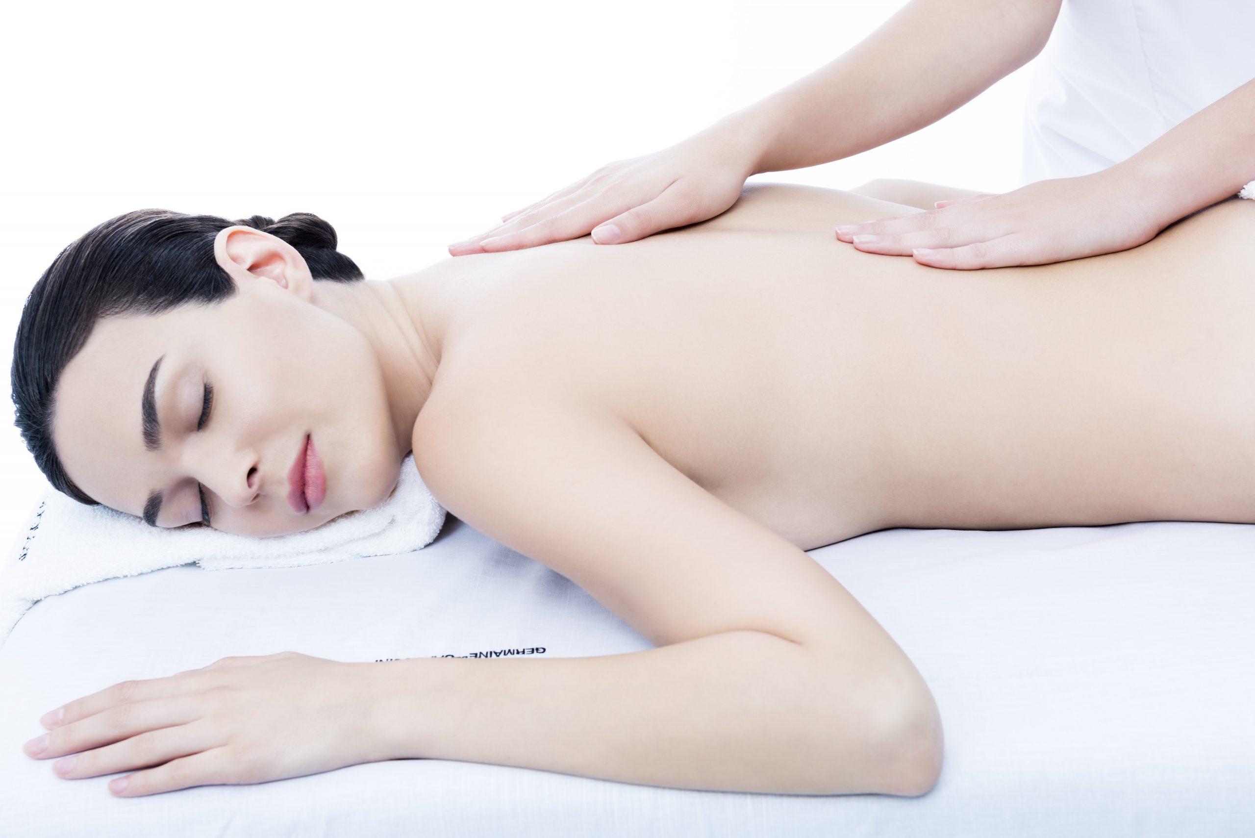Back massage, Germaine de capuccini, beauty salon, massage, relaxation, chertsey, surrey